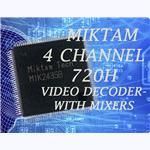 MIKTAM 4 channel 720H Video Decoders+2SD Mixers and 1 HD Mixer-MIK2435B