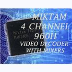 MIKTAM 4 channel 960H Video Decoders+2SD Mixers and 1 HD Mixer-MIK2465