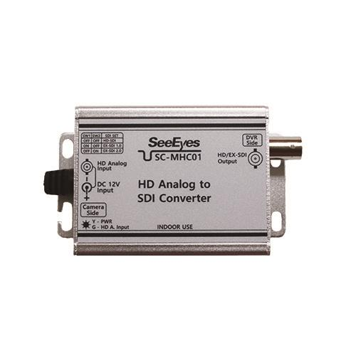 [SC-MHC01] HD Analog(AHD/TVI/CVI ~2MP) to HD/EX-SDI Converter
