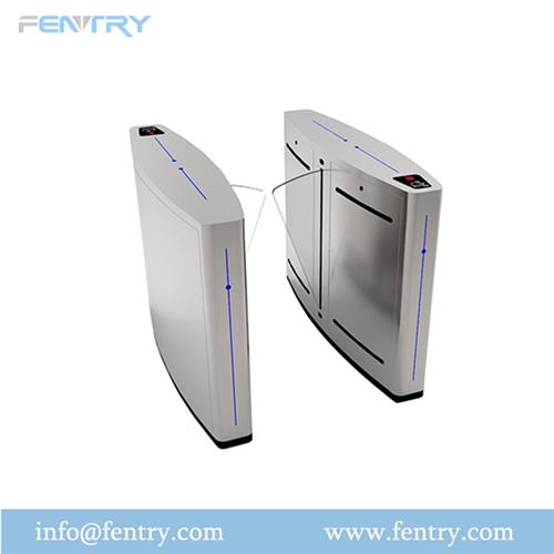 Biometric Speed Gate Flap Turnstile With RFID Card For Gym Fitness