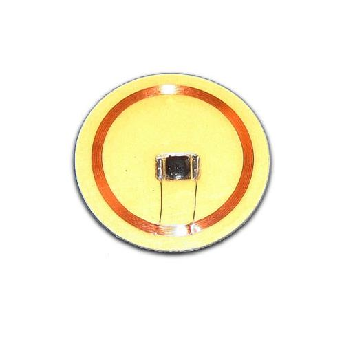 PVC Clear Coin Tag, OD: 30mm with Sticker, MIFARE Classic® 1K