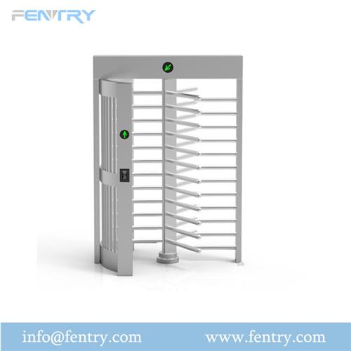 Rfid and Fingerprint Access Control Full Height Turnstile Gate