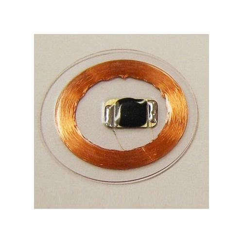 Clear TK4100 PVC Coin Tag with 20mm OD and 125kHz Frequency