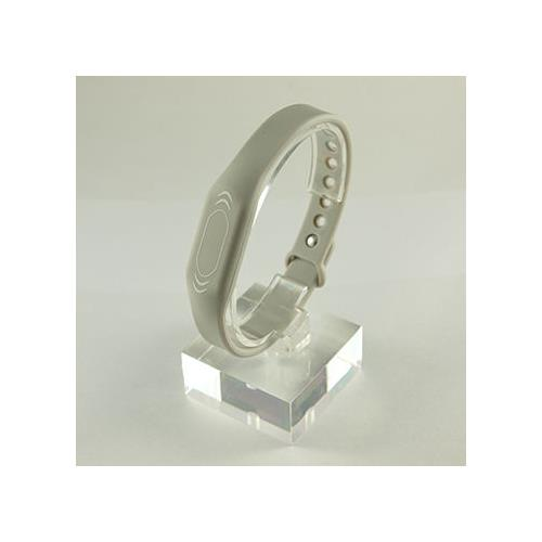 RFID Silicone Rubber Wristband, w/ Pin-and-Tuck Closure, light gray, MIFARE Classic® 1K