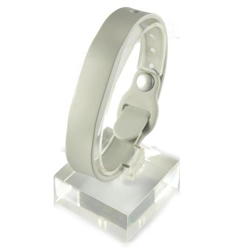 RFID Silicone Rubber Wristband, w/ Pin-and-Tuck Closure, Gray, NXP NTAG213, R/W, W3R-670G-0N