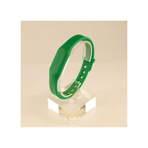 RFID Silicone Rubber Wristband, w/ Pin-and-Tuck Closure, Green, FM11RF08 (ISO 14443A), 13.56MHz R/W