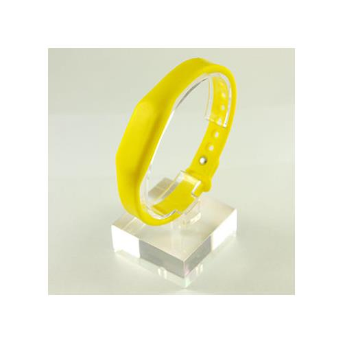 RFID Silicone Rubber Wristband, w/ Pin-and-Tuck Closure, Yellow, FM11RF08 (ISO 14443A), 13.56MHz R/W