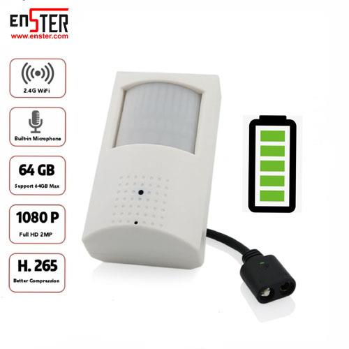 ENSTER WiFi Audio IP Battery Camera PIR 1080P ICSEE Remote View Support 64GB TF Card Max