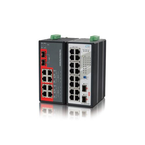 Industrial Unmanaged FE PoE Switch IFS-1602GS-8PH, IFS-802GS-8PH