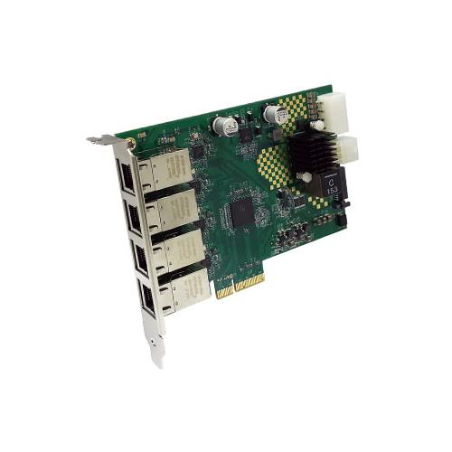 Quad 10/100/1000M Ethernet (POE+) to PCI Express x4 Gen 2 Host Card