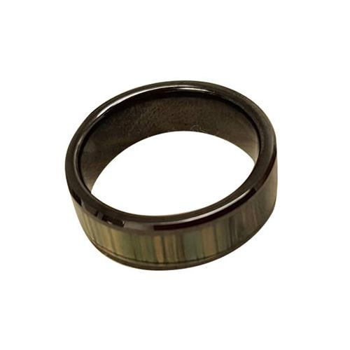 RFID Ceramic Ring, Black, Customized Pattern, Non-directional Reading, ATA5577, 125kHz, R/W