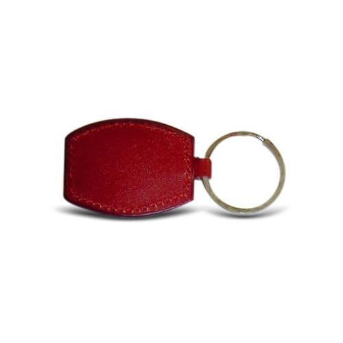 RFID Tag with EM4200 IC/Memory and Leather Key Fob in Red