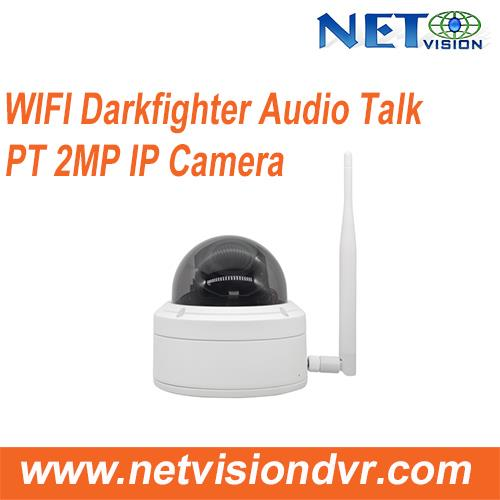 2MP Wifi IP Darkfighter 5 x zoom Audio Talk PT Dome Camera-NT582DPT-IWP