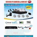 SCC P.O.E 4CH HD IP CAMERA & NVR KIT