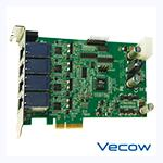 4-CH PCI Express by 4 PoE+ Card
