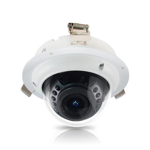 2MP Flush WDR Vandal Proof Dome Camera with Vairfocal Remote Zoom