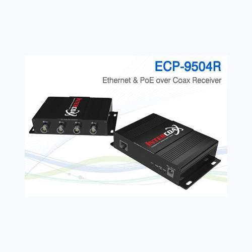 4 Ch Ethernet over Coax/UTP Receiver / ECP-9504R