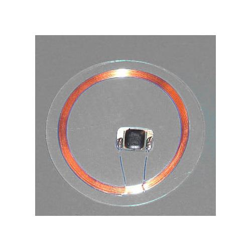RFID Coin Tag with 30mm OD, Clear, PVC, I CODE SLI