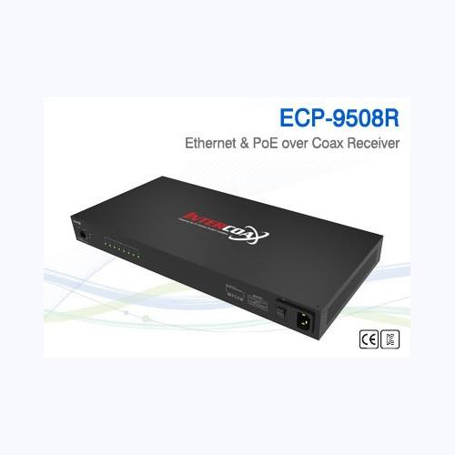 8 Ch Ethernet over Coax/UTP Receiver / ECP-9508R