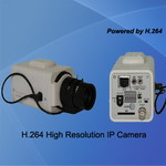 Network camera with Mega Pixels resolution, support SD card for local storage