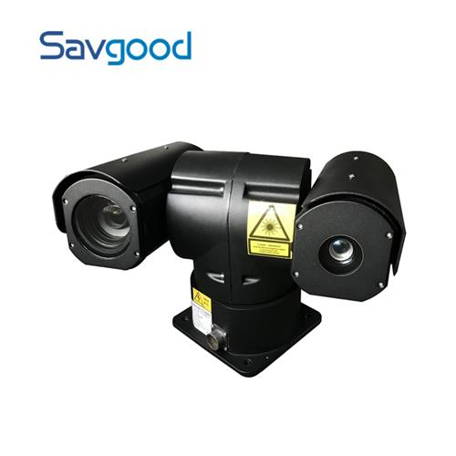 2Mp Long Range 6-300mm Lens 50x Optical Zoom 1000m Laser Distance Rugged Vehicle Mounted PTZ Camera