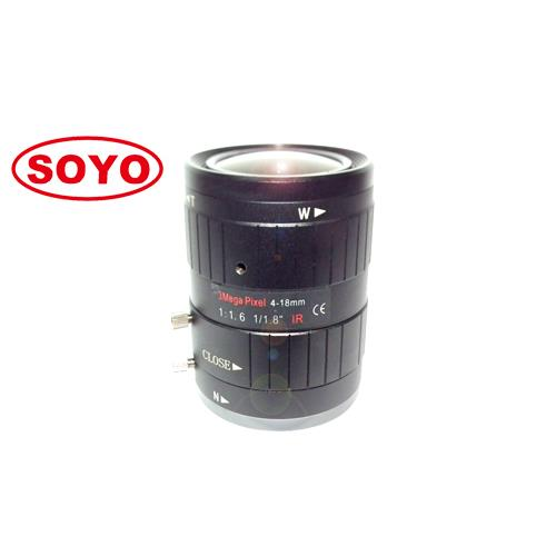3.0 Megapixel lens manual iris 4-18mm 1/1.8""