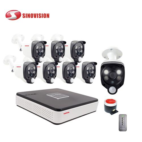 China factory Sinovision wholesale 1080P 8ch COC PIR  DVR kit for home security
