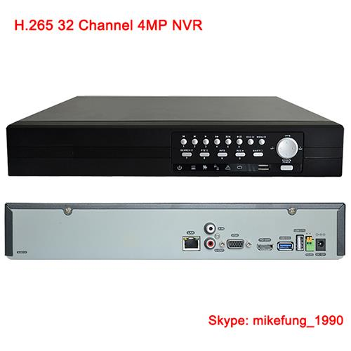 H.265 32CH 4MP/ 24CH 5MP NVR support 4HDD up to 8TB