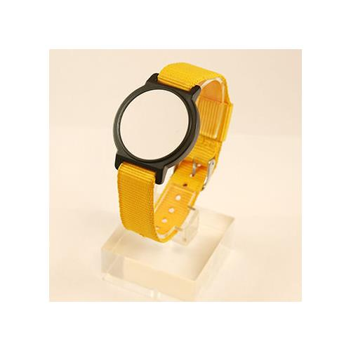 RFID PVC Face + Nylon Adjustable band, Yellow, MIFARE Classic® EV1/1K, 13.56MHz, R/W, WOP-210H-0N