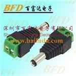 DC12V power plug for CCTV system camera, DC male connector
