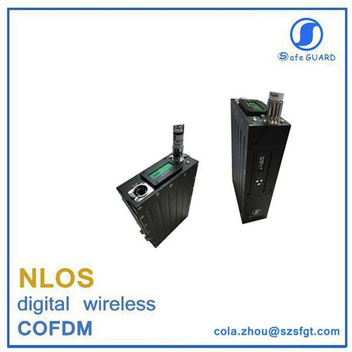 IP mesh tdd cofdm rs485 wireless transceiver for military surveillance