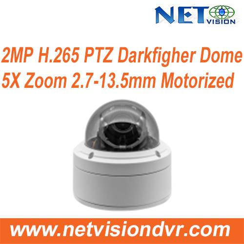 5X Zoom Mini Dome PTZ IP Camera Darkfighter 2MP PoE NT582DPT-IR