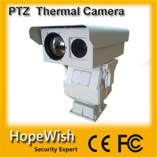 long range PTZ dual vision day/night IR thermal imaging camera