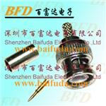BNC connector RG59 coaxial plug for CCTV accessories