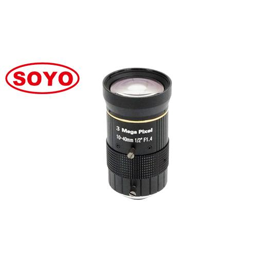 3.0 Megapixel lens manual iris 10-40mm 1/1.8""