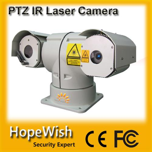 long range PTZ night vision IR laser security camera