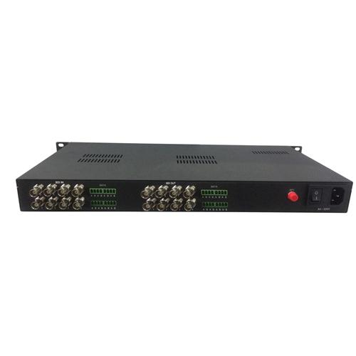 16 channels SDI fiber optic extender compatible with ASI TS stream