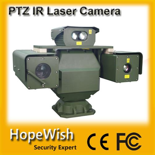 military grade vehicle mount infrared PTZ laser night vision camera with laser ranger