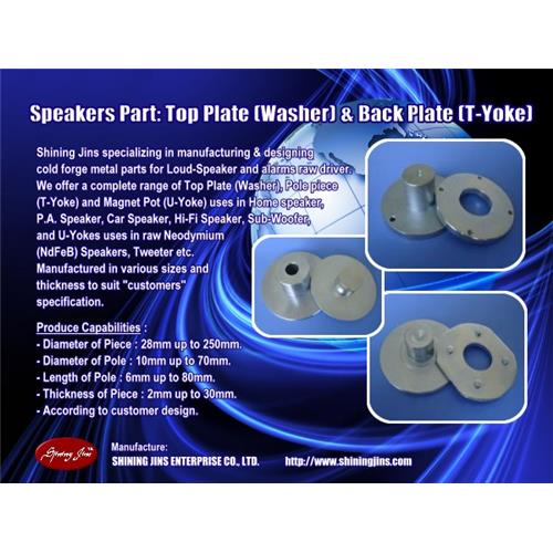 Bottom plate Speakers part made in Taiwan