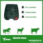 Agricultural 2 Joules solar electric fencing energiser for livestock and poultry