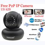 Wanscam P2P Pan Tilt 2 Way Audio Wireless Infrared IP Camera