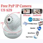 Wanscam ip micro camera wireless infrared pan tilt p2p ip camera