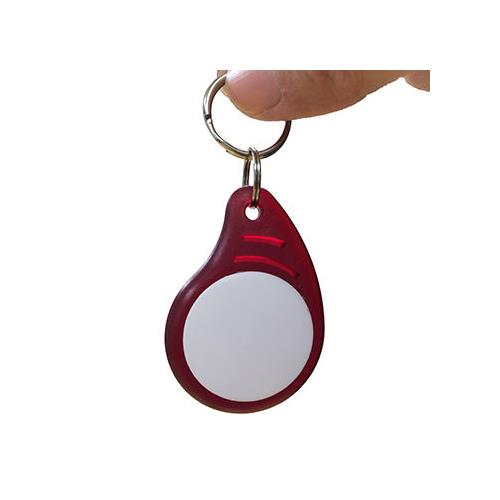 RFID ABS Key Fob, Clear Red+White/TK4100, 125kHz Frequency, Read-Only KEA-010Q-0N(AB0005)