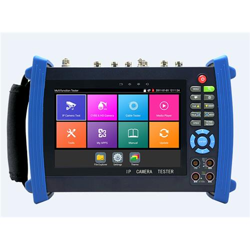 7 inch IPS touch screen IP Analog 4MP CVI /4MPAHD/8 TVI tester