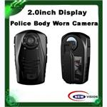 1080P police body worn video camera with 2inch TFT display