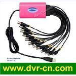 8 chs D1 realtime USB DVR card
