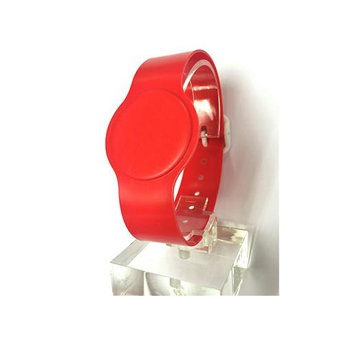 Batag RFID PVC Wristband with Adjustable Band Red WLP-050R-0N (IC Chip: T5577 125Khz)