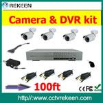 REK-CK822G 100ft Video + power calbe CCTV system kits