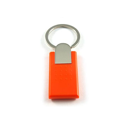 ABS Key Fob with Metal Fittings, Orange, TK4100, 125KHz, R/O, KTA-010O-0N