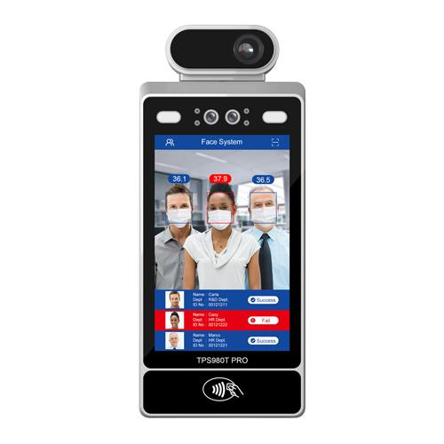 TPS980T Pro | Multi-person AI Face Recognition Temperature Screening Terminal